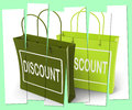 Discount Shopping Bags Show Bargains and Markdown Products Royalty Free Stock Photo