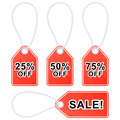 Discount shopping tags set of sale vector illustration Stock Photos