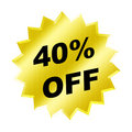 Discount sign Stock Photography