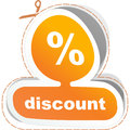 Discount signs usable for different business design Stock Image