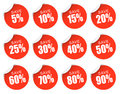 Discount Stickers - red Royalty Free Stock Photo