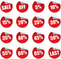 Discount stickers set Royalty Free Stock Photo