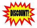 Discount tag - illustration Stock Photo