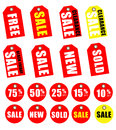 Discount Tags Royalty Free Stock Photo