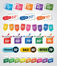 Discount tags & labels Stock Images