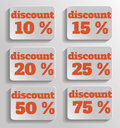 Discount text with numbers this is file of eps format Stock Photography