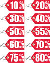 Discount vector illustration of labels Stock Photos