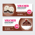 Discount voucher set of ice cream template design.