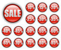 Discount web buttons Stock Images