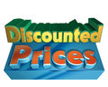 Discounted prices Royalty Free Stock Photo