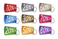 Discounted Prices Tags Royalty Free Stock Photo