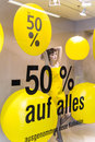 Discounts as a percentage retail price reduction symbol photo for cheap prices brand tung and competition Stock Photo