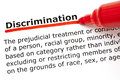 Discrimination definition Royalty Free Stock Photo