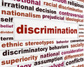 Discrimination social issue concept human differences message design Royalty Free Stock Image