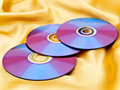 Discs on fabric Stock Photography