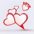 Discurso da bolha do dia de Valentim Imagem de Stock Royalty Free