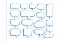 Discurso dibujado mano de la burbuja del bosquejo de la burbuja del discurso Foto de archivo libre de regalías