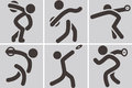 Discus throw icons summer sports Stock Image