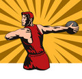 Discus thrower Stock Image