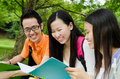 Discussion asian students in the Stock Photography
