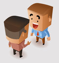 Discussion with business partner vector illustration Stock Photos
