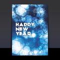 Diseño del aviador o de la cubierta del año nuevo Fotografía de archivo