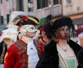 Disguised Venetian People Royalty Free Stock Images