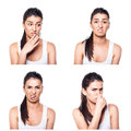 Disgusted girl composite Royalty Free Stock Photo