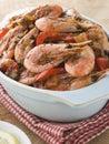 Dish of Cajun Shrimp Royalty Free Stock Photo