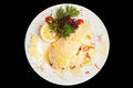 A dish an image of plate with delicious food on it Royalty Free Stock Photography