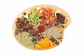 Dish  of Spices Royalty Free Stock Images