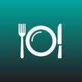 Dish vector icon illustration graphic design.