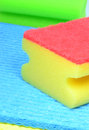 Dish washing sponge Royalty Free Stock Images