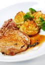грудинка косточки dishes горячий свинина мяса Стоковые Фото