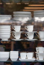 Dishware for sale in the store Royalty Free Stock Photo