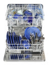 Dishwasher automatic dish washer washing machine Stock Image