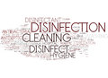 Disinfect Word Cloud Concept Royalty Free Stock Photo