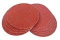 Disk of brown sandpaper Stock Images