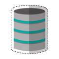 Disk server isolated icon