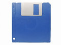 Diskette blue isolated on white background Royalty Free Stock Images