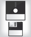 Diskette illustration black retro background Royalty Free Stock Image