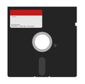 Diskette vector illustration of computer Royalty Free Stock Images