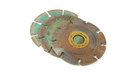 Disks old used metal rusty cutting Stock Photo