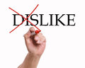 Dislike hand painted with red pen Stock Photos