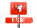 Dislike road sign. Thumb down Sign Royalty Free Stock Photography