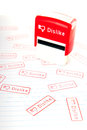 Dislike stamp red with prints on paper Royalty Free Stock Images