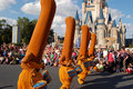 Disney brooms (Fantasia movie) during a parade Royalty Free Stock Photo