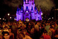 Disney Castle crowd at night Royalty Free Stock Image
