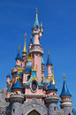 Disney castle paris situated in the euro paris resort picture taken on a sunny day in june Stock Image