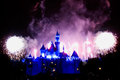 Disney Fireworks Finale Royalty Free Stock Photo